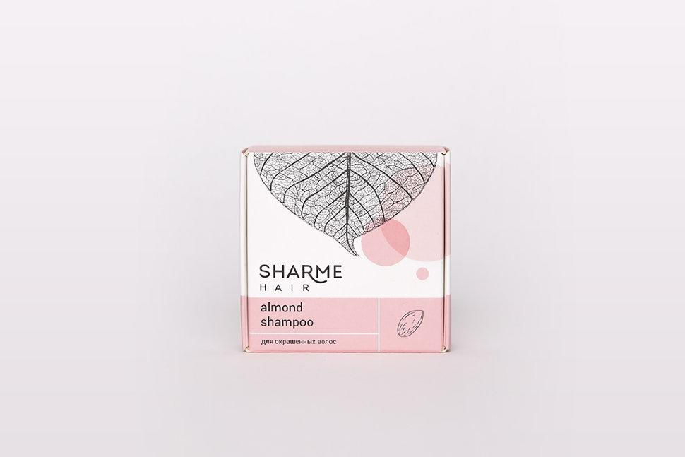 Натуральный твердый шампунь Sharme Hair Almond (миндаль) Гринвей купить, цена